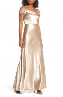wedding photo - Jenny Yoo Sabine Satin Off the Shoulder Gown