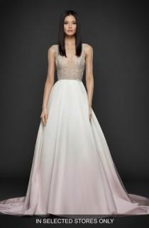 wedding photo - Lazaro Beaded Bodice Satin Ballgown