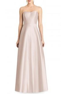 wedding photo - Alfred Sung Strapless Sateen Gown
