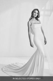 wedding photo - Atelier Pronovias Rama Embellished Cowl Back Mermaid Gown