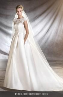 wedding photo - Pronovias Osasun Lace Bodice Ballgown