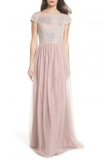 wedding photo - Hayley Paige Occasions Embroidered Bodice Net Gown