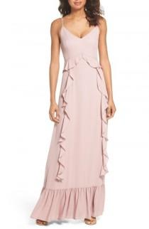 wedding photo - WAYF Loyal Ruffle Empire Maxi Dress