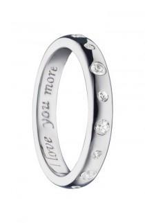 wedding photo - Monica Rich Kosann Love You More White Sapphire Ring