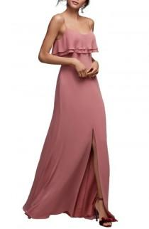 wedding photo - Watters Jasper Ruffle Popover Gown