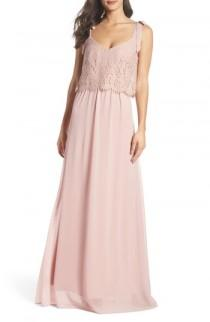 wedding photo - Heartloom Koko Tie Shoulder Lace Bodice Gown