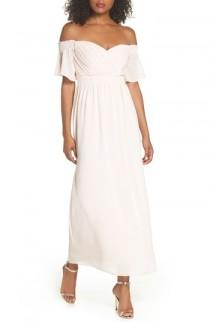 wedding photo - TFNC Freida Off the Shoulder Maxi Dress