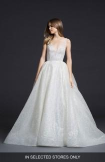 wedding photo - Lazaro Glitter Tulle Ballgown