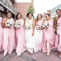 4a52a4bd73 David s Bridal. Pretty in pink bridesmaids