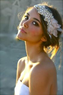 wedding photo - Bridal Jeweled Pedal Headpiece ♥  Bridal Accessories