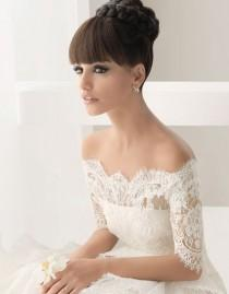 wedding photo - Off-The-Shoulder Wedding Dress ♥ Winter Lace Wedding Dresses