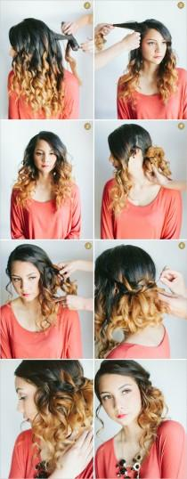 wedding photo - How To Waterfall Braid
