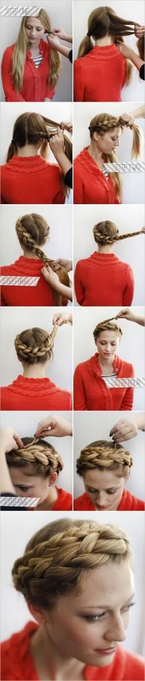 wedding photo - How To Halo Braid