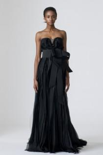 wedding photo -  Vera Wang Black Wedding Dress ♥ Extraordinary Wedding Dresses