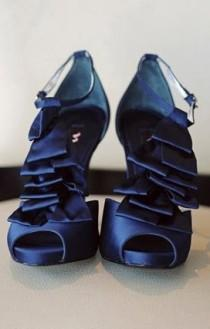 wedding photo -  Blue Wedding Shoes
