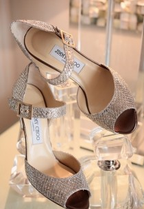 wedding photo -  Sparkly Wedding High Heels