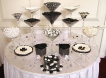 wedding photo - Chic Candy Table  ♥ Wedding Favor Ideas