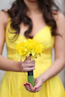 wedding photo -  Sunny Lemon Yellow Wedding Decor
