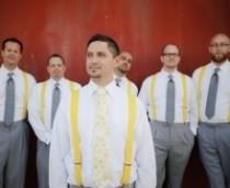 wedding photo -  Inspired By This Modern Smog Shoppe Grey And Yellow Wedding