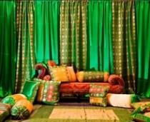 wedding photo -  Green And Gold Themed Mehndi From Chicago