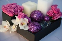 wedding photo -  Pink Wedding Centerpieces