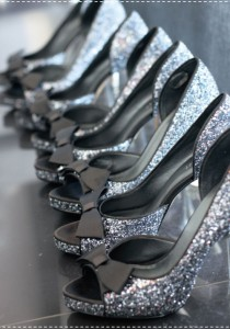 wedding photo -  Chic Sparkle Wedding High Heel Shoes