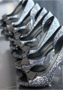wedding photo - Chic étincelle chaussures de mariage à talons hauts