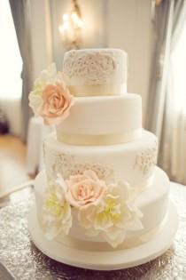 wedding photo - Специальные Fondant Свадебные торты ♥ украшения свадебного торта