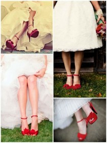 wedding photo -  Red Wedding Inspiration