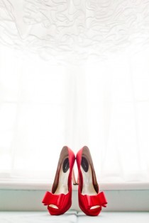 wedding photo -  Red Sexy Wedding Shoes ♥ Chic Wedding Shoes