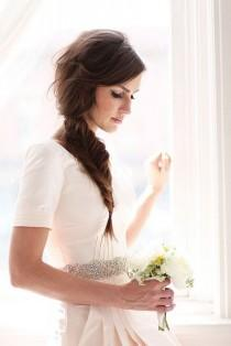wedding photo -  Messy Side Pesce Acconciatura Tail ♥ Treccia Acconciature da sposa semplici