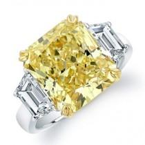 wedding photo -  Luxury Yellow Diamond Ring | Ozel Tasarim Pirlanta Yuzuk