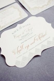 wedding photo - Elegante Save The Date