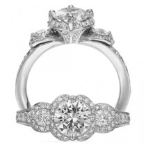 wedding photo - Luxury Diamond Wedding Ring ♥ Perfect Diamond Tria Ring