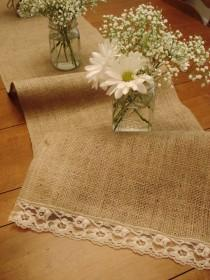 wedding photo - Burlap Wedding Table Decoration Ideas