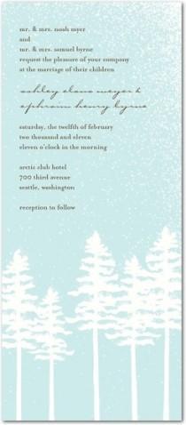 wedding photo - Winter Wedding Invites