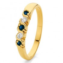 wedding photo -  Sapphire and Diamond Dress Ring ♥ Gorgeous Gold Ring