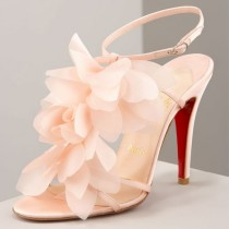 wedding photo -  Christian Louboutin Wedding Shoes with Red Sole  Chic and Fashionable Wedding High Heels