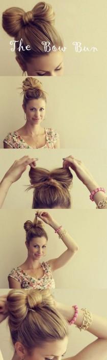 wedding photo - DIY hair bow bun tutorial ♥ Gorgeous Wedding Hair