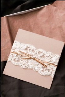 wedding photo - DIY Lace Wedding Invitation ♥ Cheap Wedding Invitation