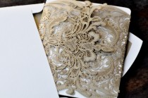 wedding photo - Vintage Lace Wedding Invitation