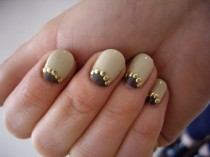 wedding photo - Half Moon Manicure ♥ Wedding Nail Art