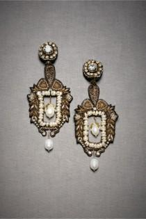 wedding photo - Gorgeous Theodora Crest Chandeliers Earrings