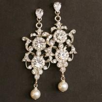 wedding photo - Teardrop Chandeliers Earrings