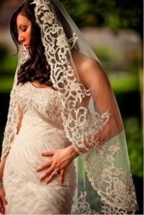 wedding photo - Vintage Wedding Mantilla Veil