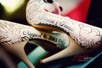 wedding photo - Pompe da sposa personalizzati ♥ speciali design unico Scarpe Wedding Day