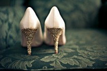 wedding photo - Brautschuhe - Gold Heels