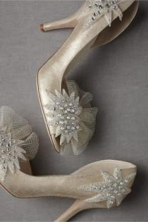 wedding photo - Scarpe da sposa avorio ♥ fai da te per i Pompe Wedding Day