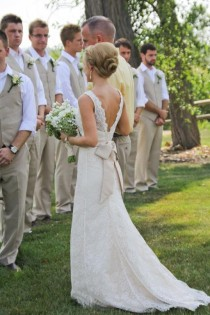 wedding photo - Simple and Chic Wedding Dress