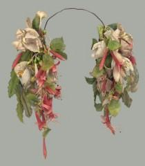 wedding photo - Weddbook - Bridal flower headdress 19th century